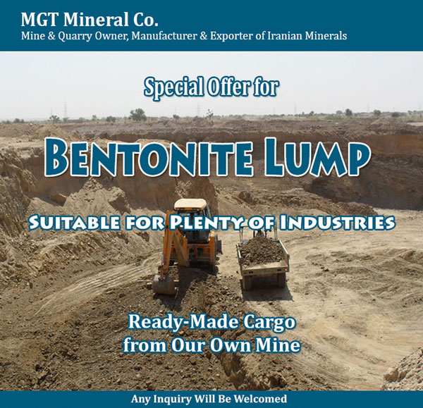 Iran Bentonite producer, Iran Bentonite exporter